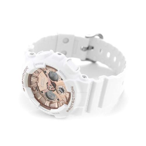 relógio casio g-shock unissex branco gma-s120mf-7a2dr