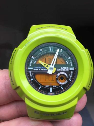 relógio casio g-shock verde