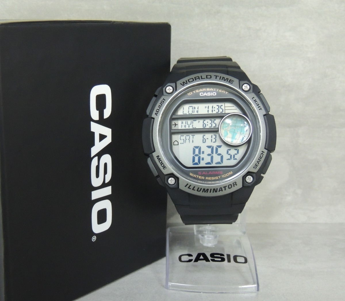 21de6a5ddf9 Relógio Casio Hora Mundial Ae-3000w-1avdf - Nota Fiscal gar - R  308 ...