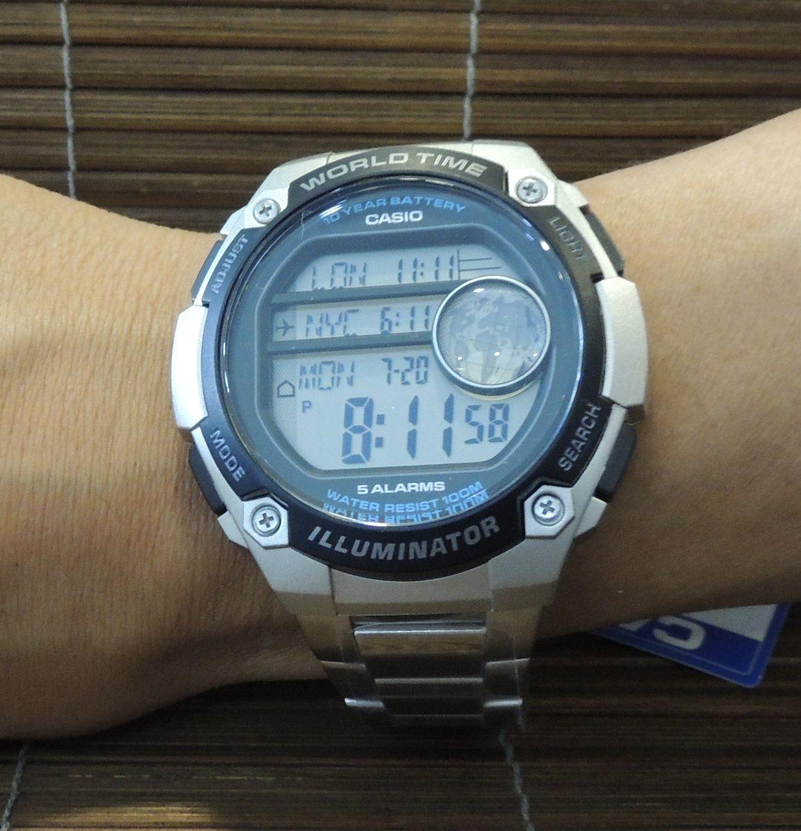 0fa99b7bcf0 relógio casio hora mundial ae-3000wd-1avdf - nota fiscal gar. Carregando  zoom.