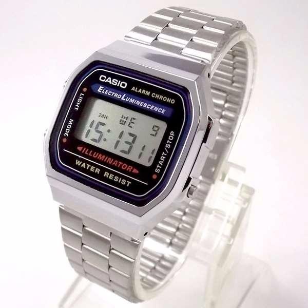 e28f2ce4cc7 Relógio Casio Illuminator Azul -100% Original A168wa-1wdf - R  164 ...