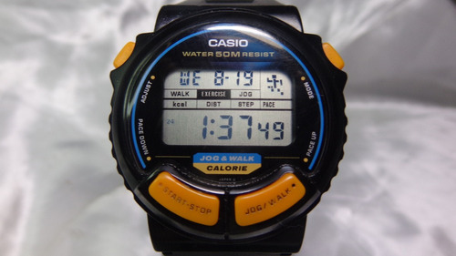 relógio casio jc-11 jog & walk único no m l relogiodovovo