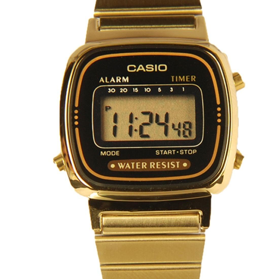 0b1d728caee Relogio Casio La-670wga-1 9 Fem Retrô Vintage Dourado Alarm - R  169 ...