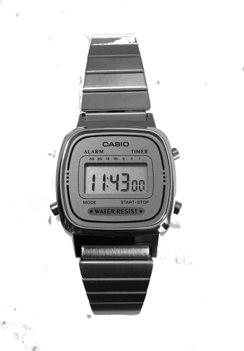 29a4aa02f70 Relogio Casio La670wa-7 Aço Retrô Vintage Alarm Caixa Origin - R ...