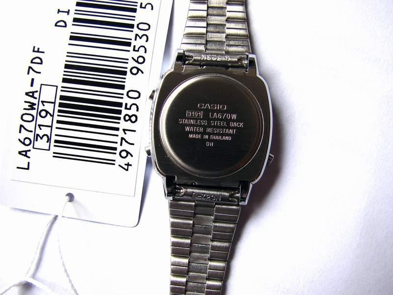 17205863436 Relogio Casio La670wa-7 Aço Retrô Vintage Alarm Caixa Origin - R ...