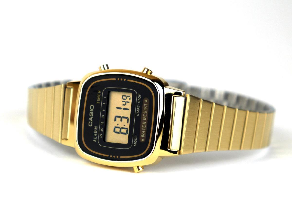 bcdd26291c8 relogio casio la670wga 1df dourado retro vintage original nf. Carregando  zoom.