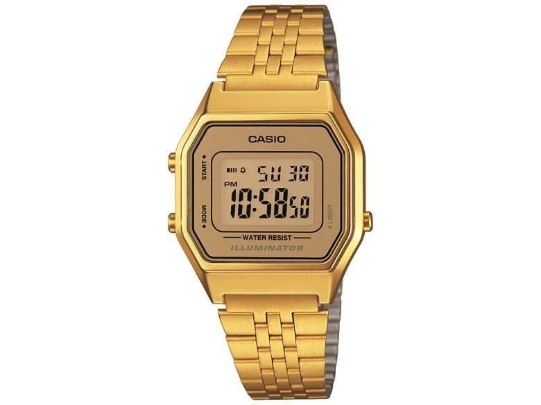a19f251fea5 Relogio Casio La680 Dourado dourado Mini Retrô La 680 670 - R  199 ...