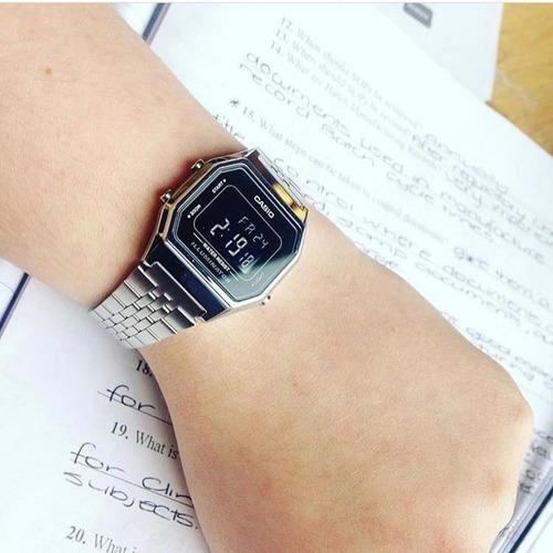 relógio casio - la680wa-1bdf - vintage