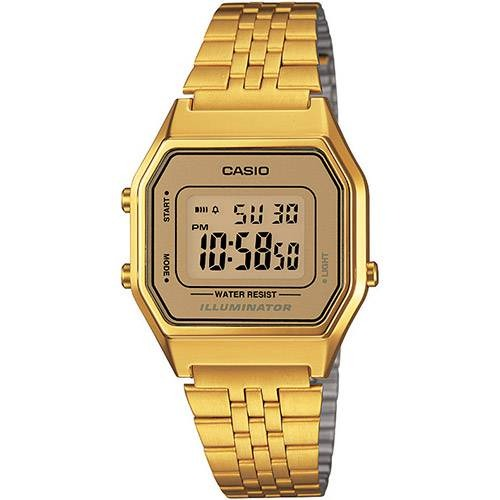 48a1e29ad8a Relógio Casio La680wga-9df Dourado - R  255