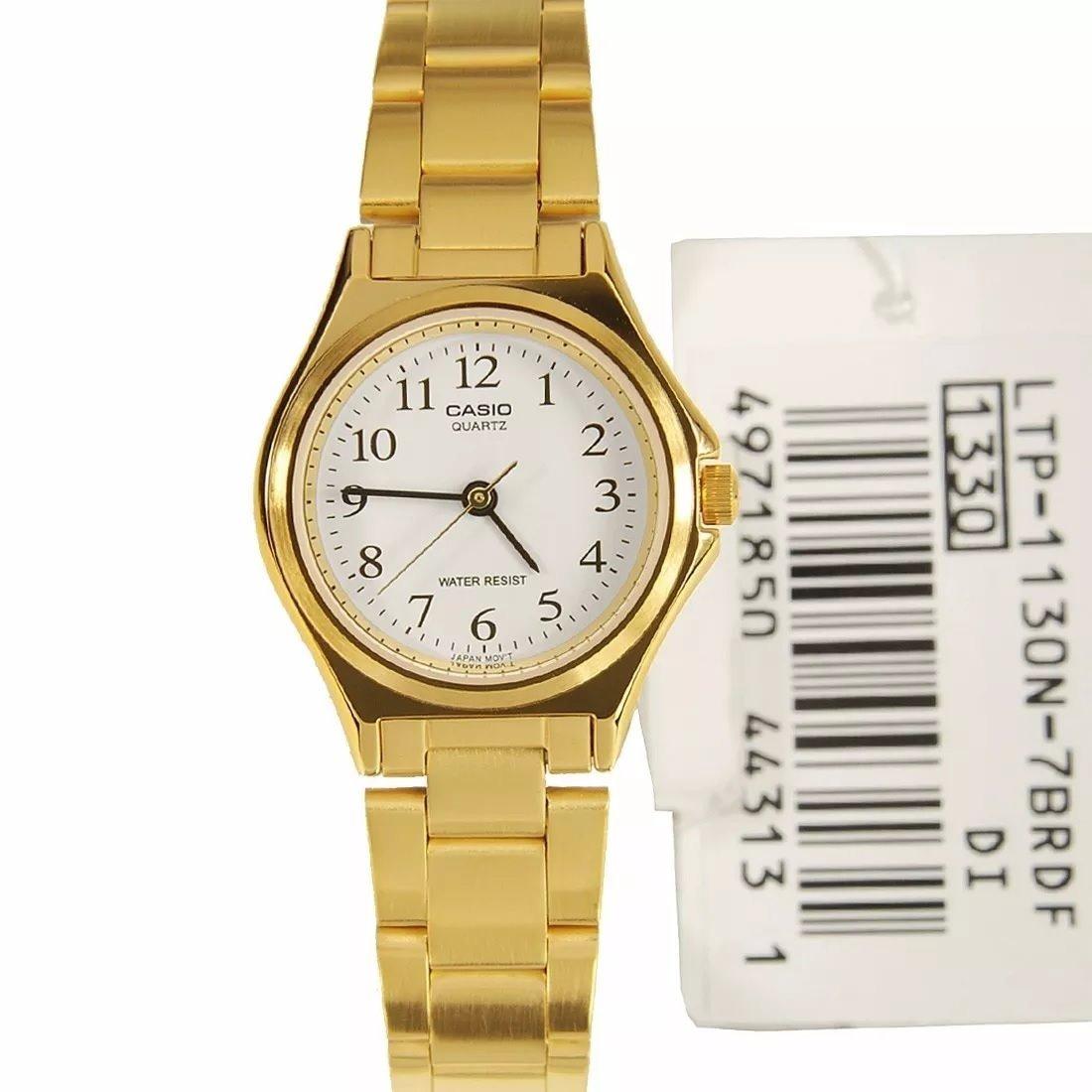 33800dcb42f relogio casio ltp 1130n-7 feminino dourado analógico clássic. Carregando  zoom.