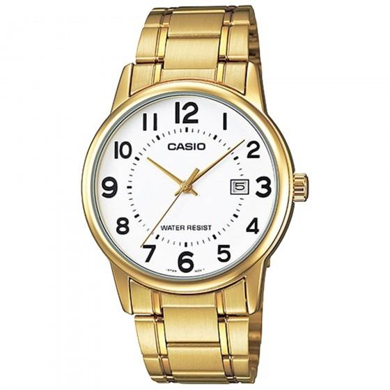 1ebec6c2ffa Relógio Casio Mtp-v002g-7budf Padrão Masc Dourado- Refinado - R  259 ...