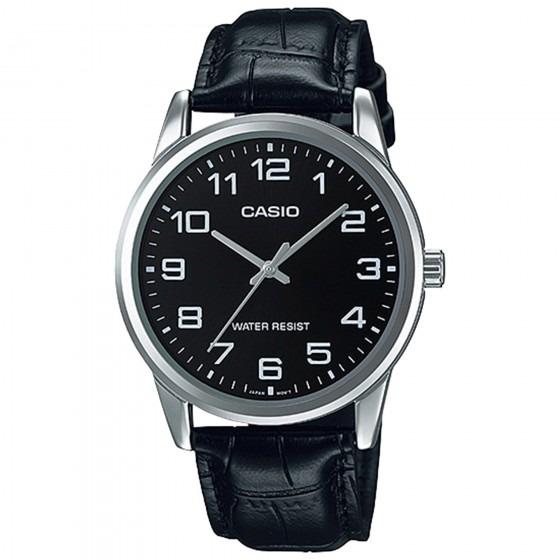 9e033edcaa6 Relógio Casio Mtp-v001l-1budf Masc Prata Preto - Refinado - R  167 ...