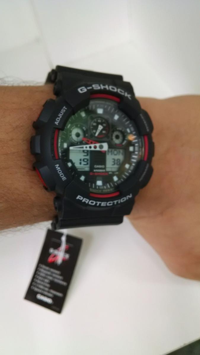 d9cabb4f468 relógio casio masc g-shock ga100-1a4dr original e barato. Carregando zoom.