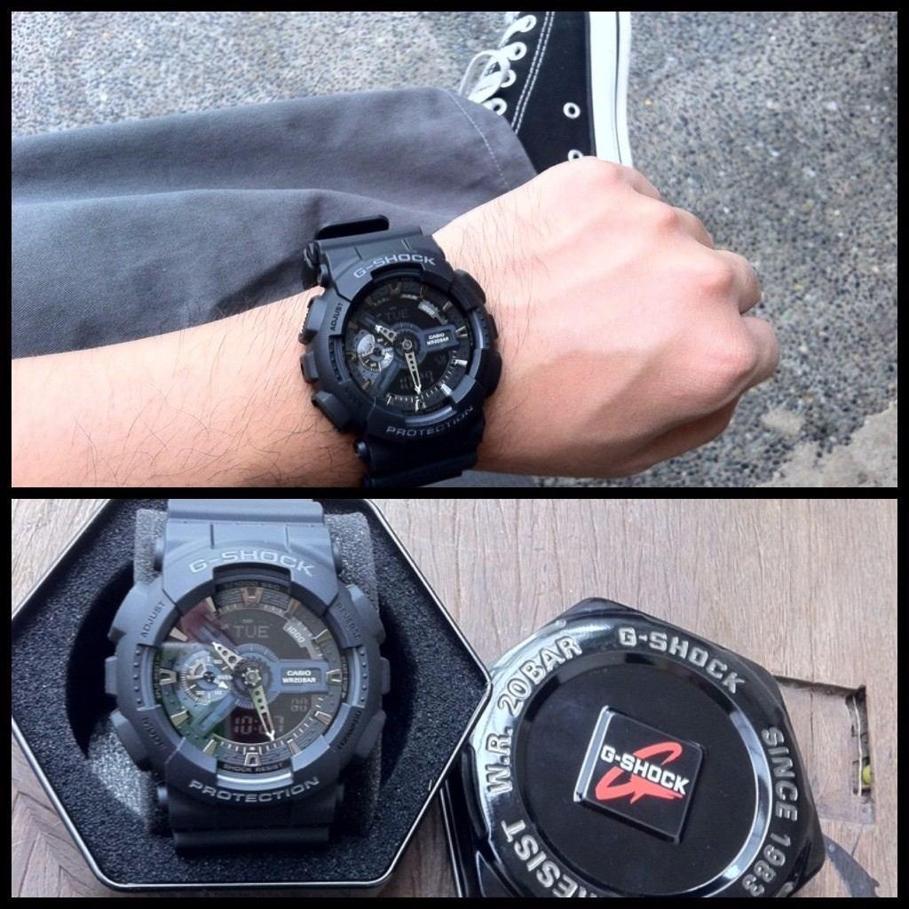 3f1077ed0db Relógio Casio Masculino G-shock Ga-110-1b Preto Original - R  379