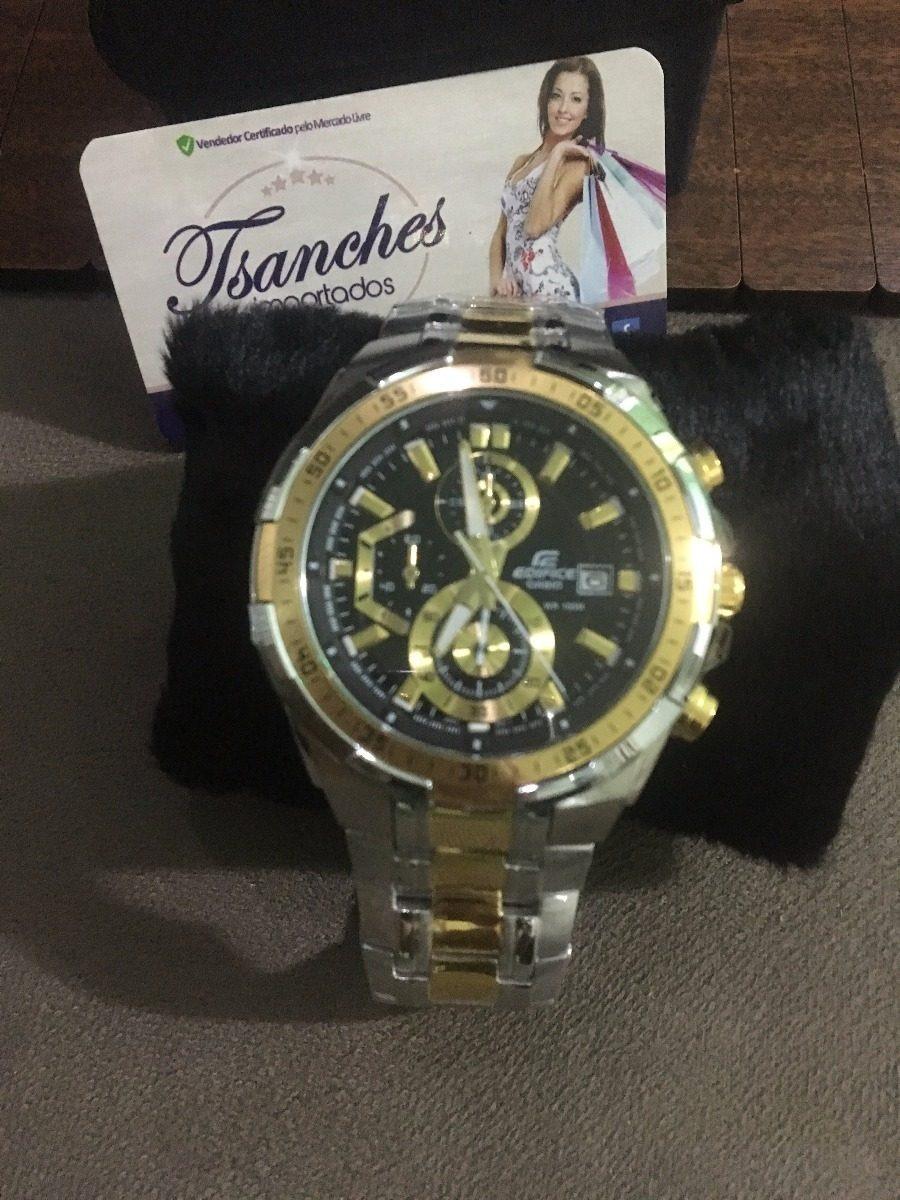 04de5f0b219 relógio casio masculino edifice ef539 misto f preto s caixa · relógio casio  masculino
