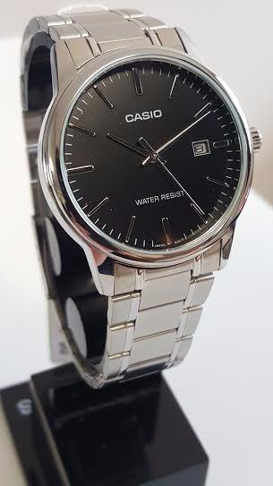 39a348e7169 Relógio Casio Masculino Aço Prata Analógico Mtp-v002d-1audf - R  269 ...