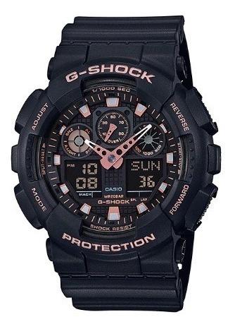 relógio casio masculino anadigi g-shock ga-100gbx-1a4dr