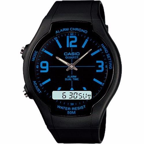7a2fff7ea70 Relógio Casio Masculino Analógico Digita Aw 90h Água 50 M - R  149 ...