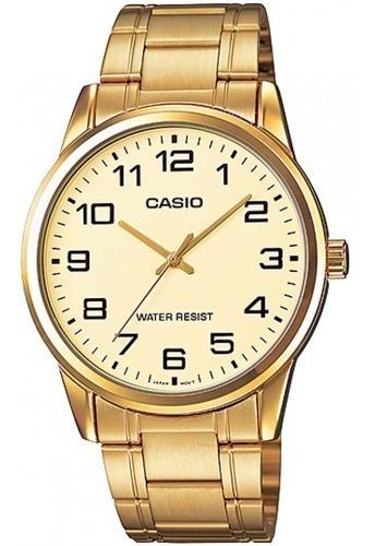 relógio casio masculino classic standard mtp-v001g-9budf