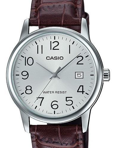 relógio casio masculino collection couro mtp-v002l-7b2udf-br