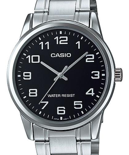 relógio casio masculino collection prata mtp-v001d-1budf