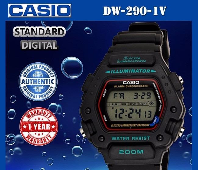cc23c61722b Relógio Casio Masculino Digital Esporte Dw-290-1vs - R  289