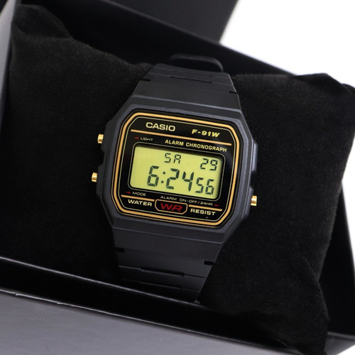 relógio casio masculino digital f-91wg-9qdf original barato