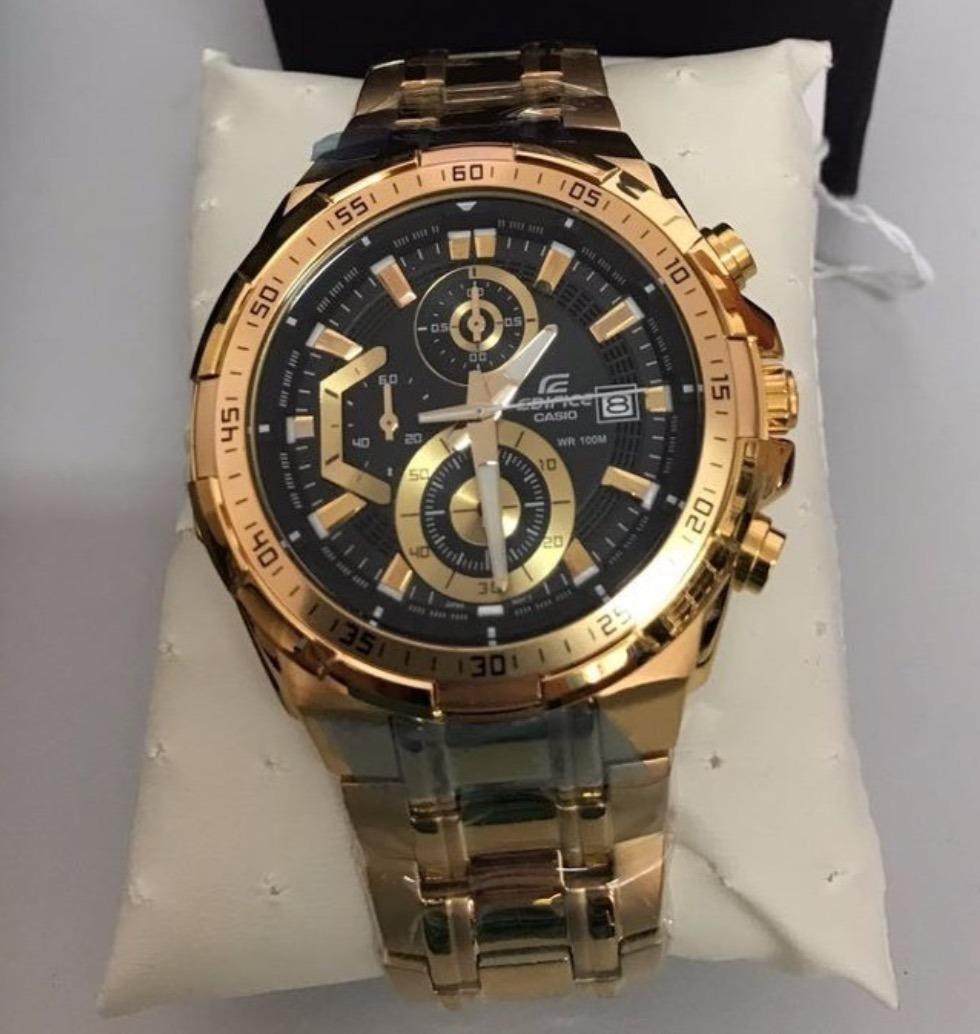 9e5478869eb relógio casio masculino edifice ef-558d-1avudf dourado preto. Carregando  zoom.