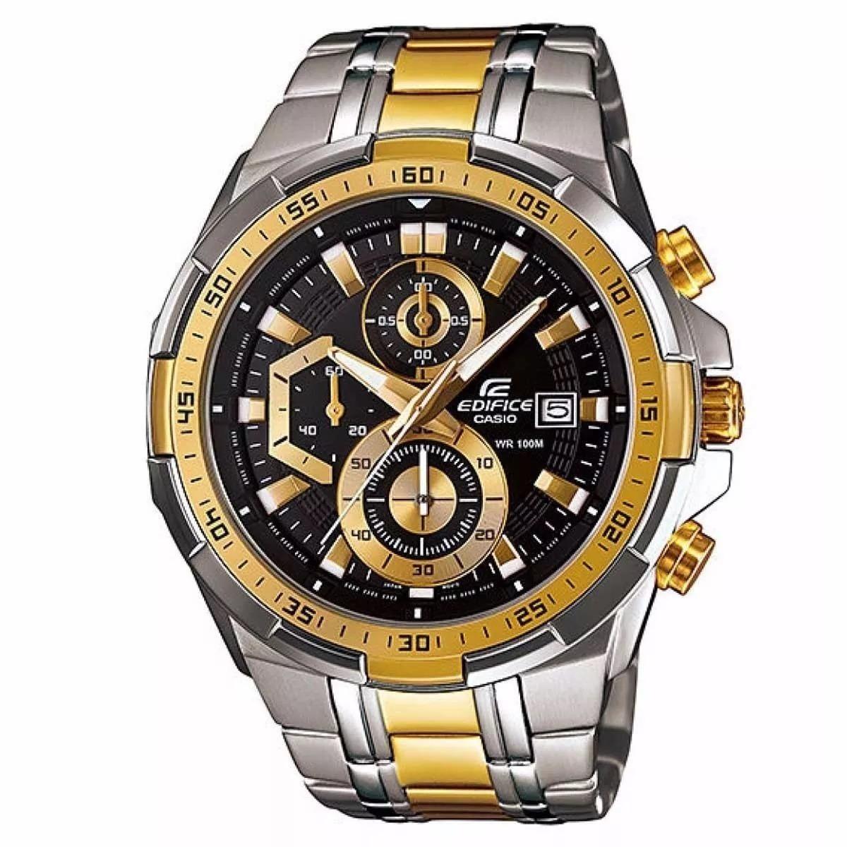 25403632f1f Relógio Casio Masculino Edifice Ef539 Misto F Preto S Caixa - R  239 ...