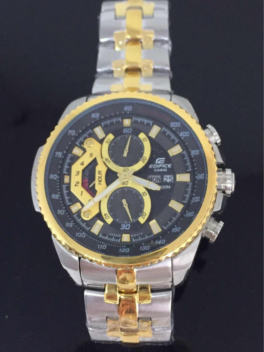 9500923c6254 relógio casio masculino edifice ef558 prata e dourado. Carregando zoom.
