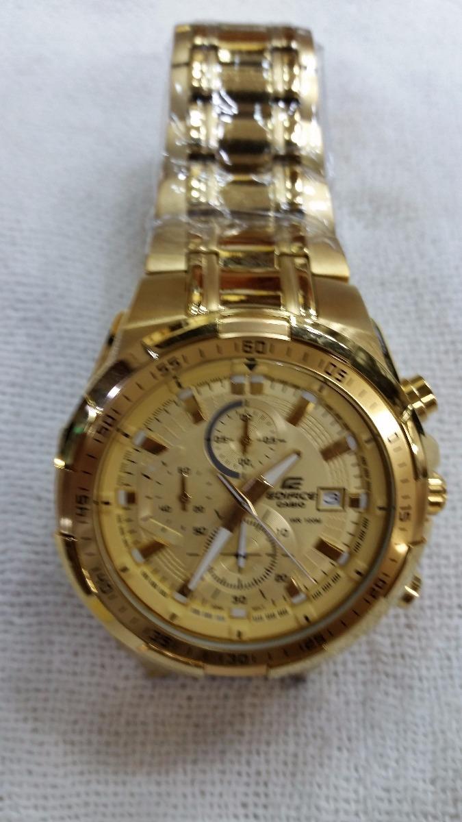 a0d1347b2f2 relógio casio masculino edifice efr-539 dourado original. Carregando zoom.