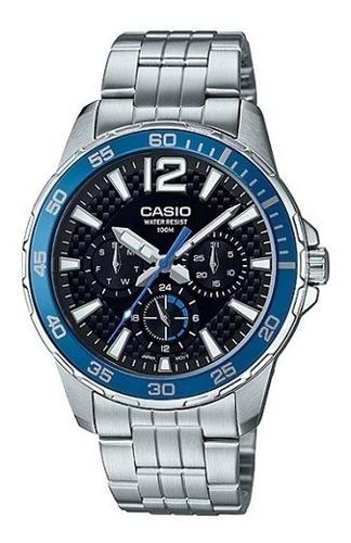 relógio casio masculino edifice prata mtd-330d-1a2vdf