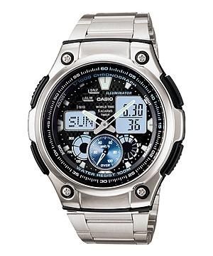 3045267ada1 relógio casio masculino em aço ana-digi aq-190wd-1avdf · relógio casio  masculino. Carregando zoom.
