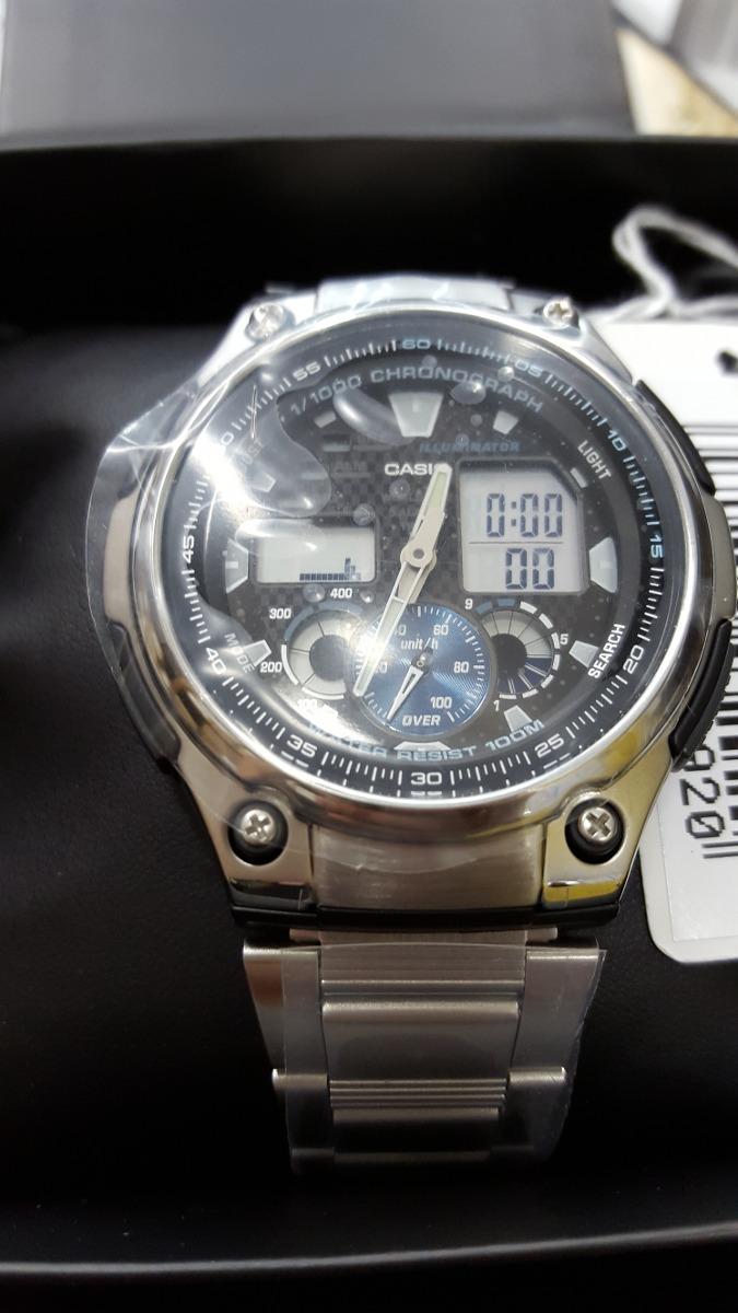 19147a64b5c Relógio Casio Masculino Em Aço Ana-digi Aq-190wd-1avdf - R  295