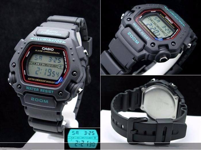 455c83db206 Relógio Casio Masculino Esporte Preto Digital Dw-290-1vs - R  289