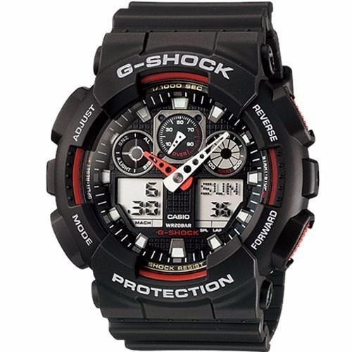 relógio casio masculino g-shock ga-100 1a4dr vermelho oferta