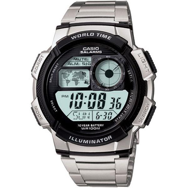 e41b4ce6483 Relógio Casio Masculino Hora Mundial Ae-1000wd-1avdf - R  273