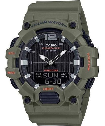 relógio casio masculino iluminator hdc-700 3a2vdf verde