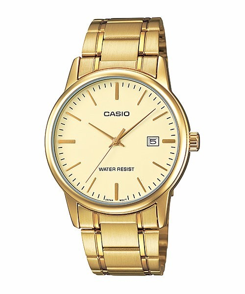 dd223c72950 Relógio Casio Masculino Mtp-v002g 9au Dourado Analógico - R  169