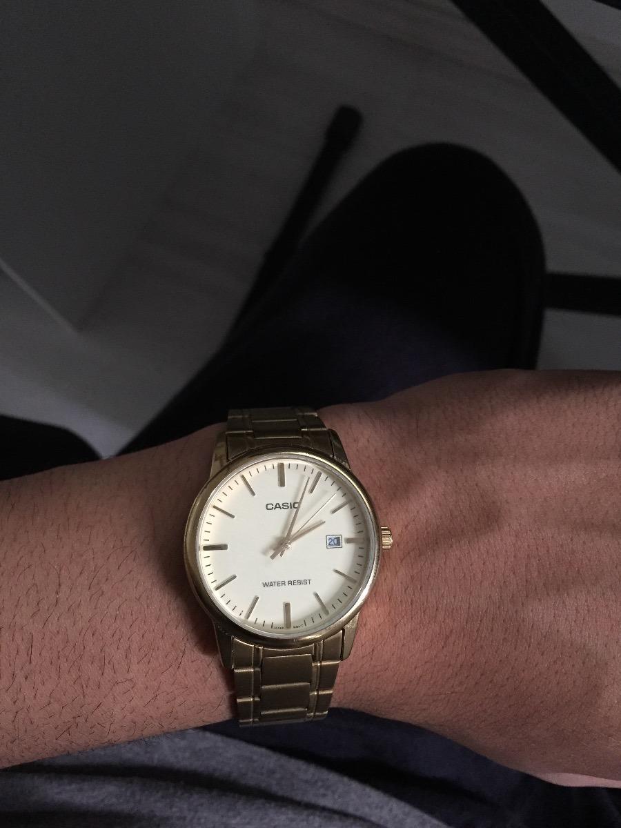 6e8188c595c relógio casio masculino mtp-v002g 9au dourado analógico. Carregando zoom.