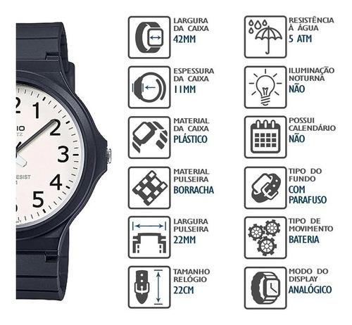 relógio casio masculino mw-240-7bvdf