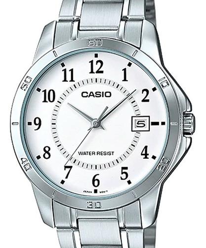 relógio casio masculino prata mtp-v004d-7budf