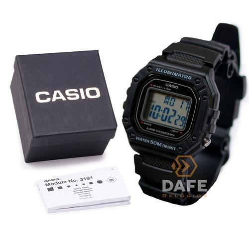 relógio casio masculino w-218h original à prova dagua
