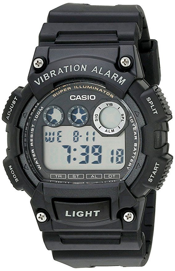 713b7734895 relógio casio masculino w-735h digital social preto resina. Carregando zoom.
