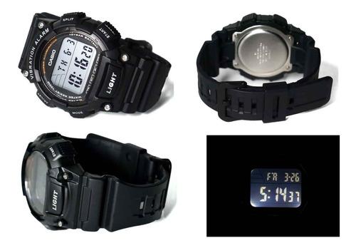 relógio casio masculino w-736h-1avdf *alarme vibratório