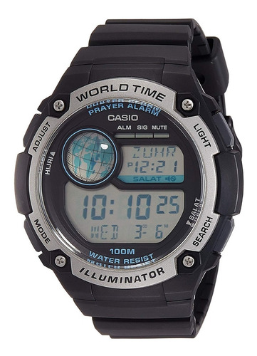 relógio casio masculino world time digital cpa-100-1avdf