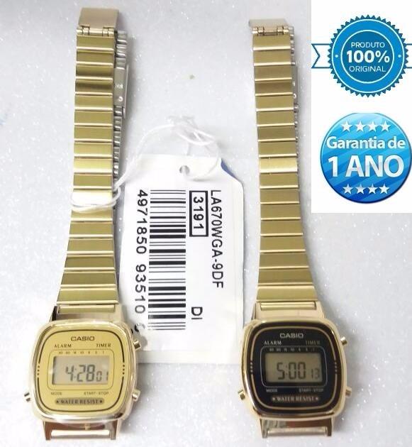f7976ec7f8b relógio casio mini dourado la670wg retro novo 100% original · relógio casio  mini