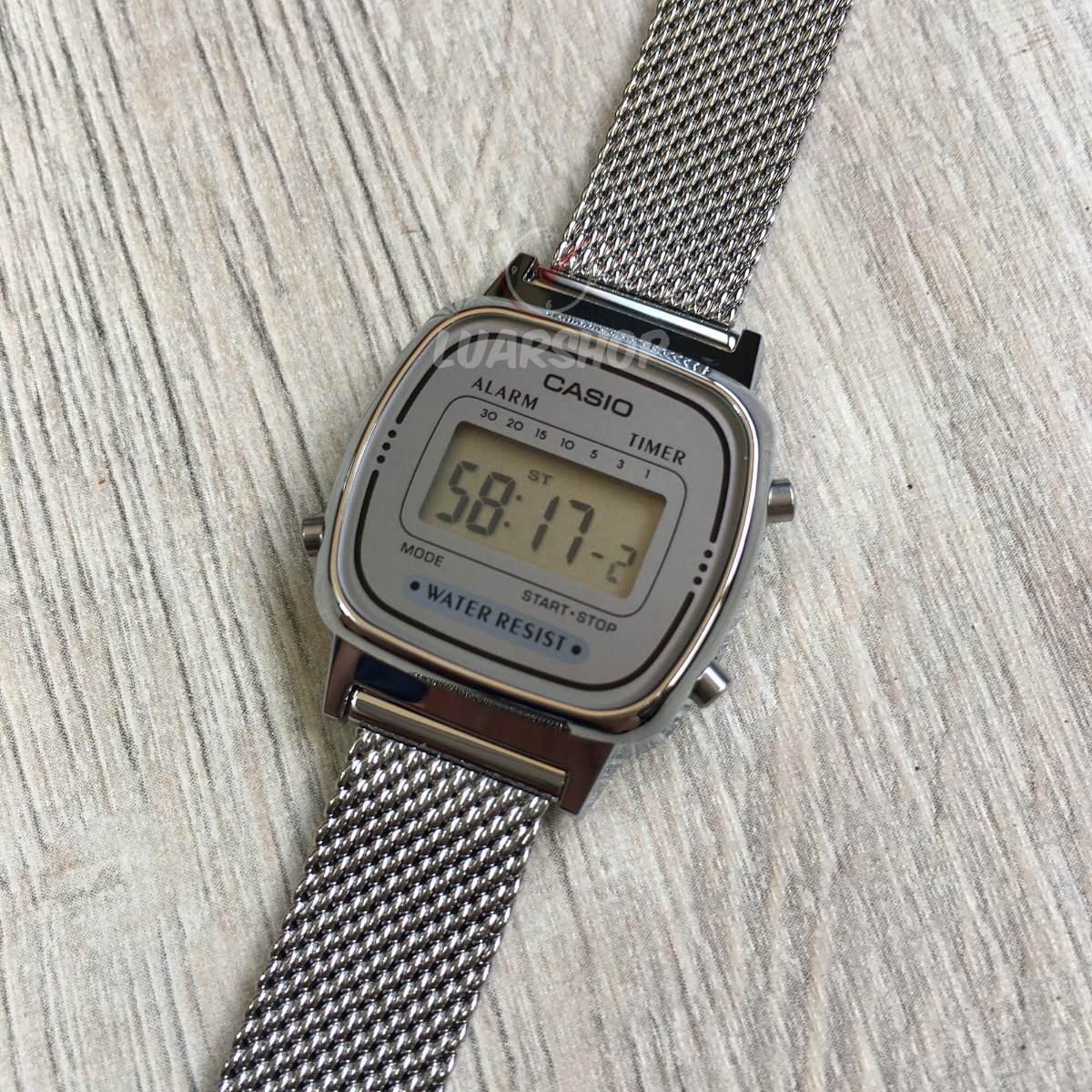 1b2c626b143 relógio casio digital mini feminino la670wem prata original. Carregando zoom...  relógio casio mini feminino. Carregando zoom.