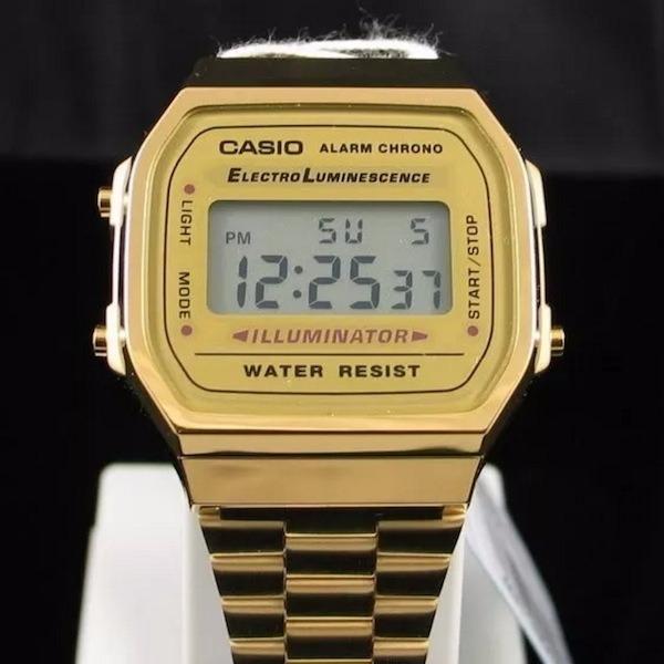 7cdbf2d2811 Relógio Casio Moda Vintage Dourado Original Cassio Garantia - R  220 ...