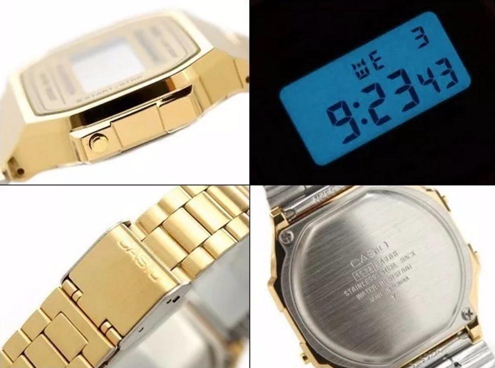 7c44a4a8454 relógio casio moda vintage dourado original cassio garantia. Carregando zoom .